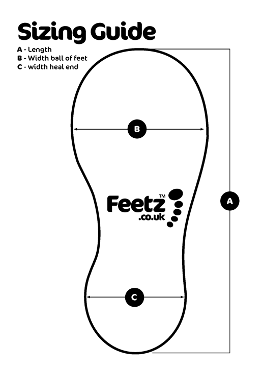 Feetz Sizing Guide